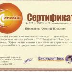 Сертификат пользователя Консультант плюс